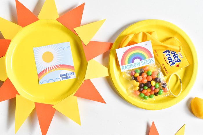 yellow sunshine packages-crafts for kids-sunshine squad