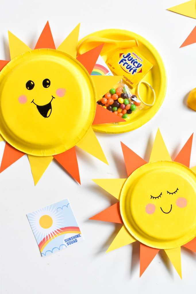yellow sunshine packages-crafts for kids