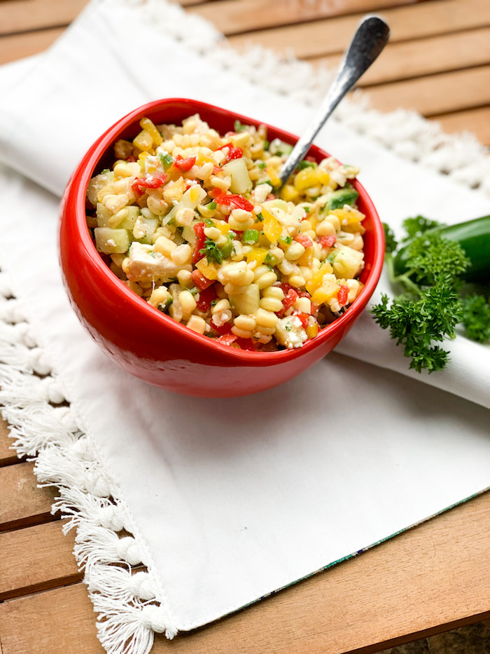 fresh corn salad for summer entertaining