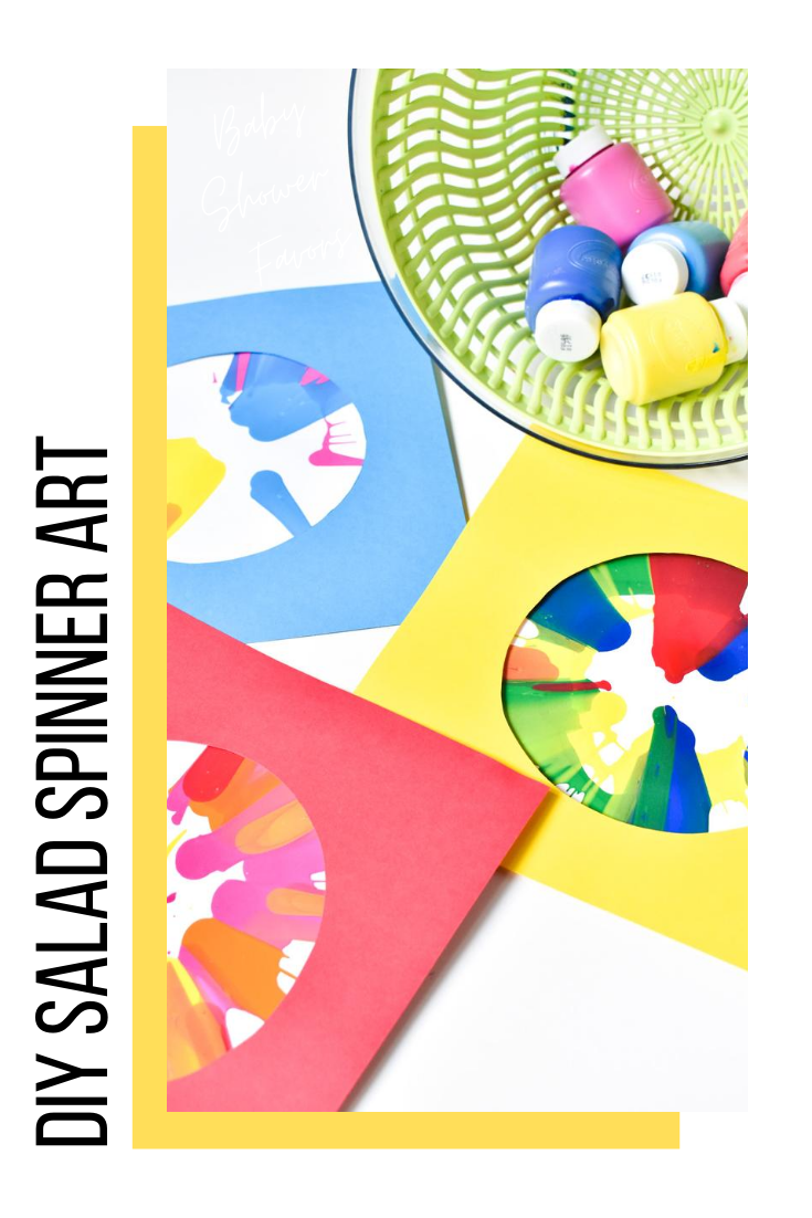 diy salad spinner art - kids craft