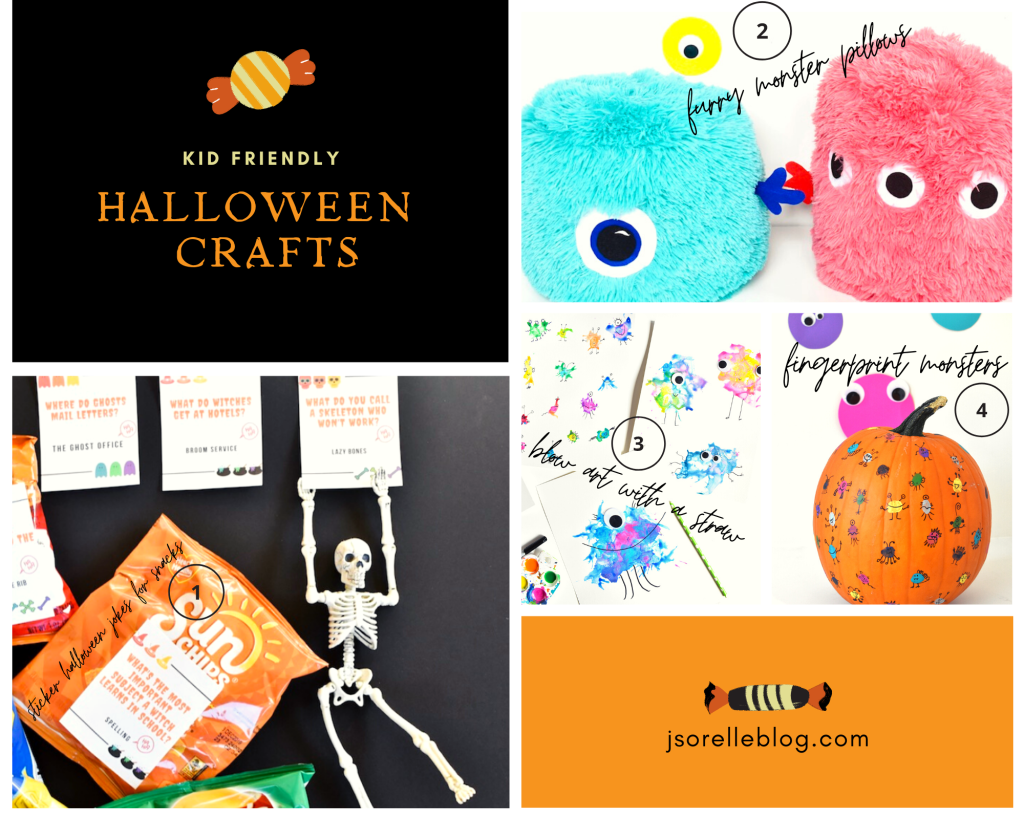 diy halloween crafts and googly eye monster DIY for kids