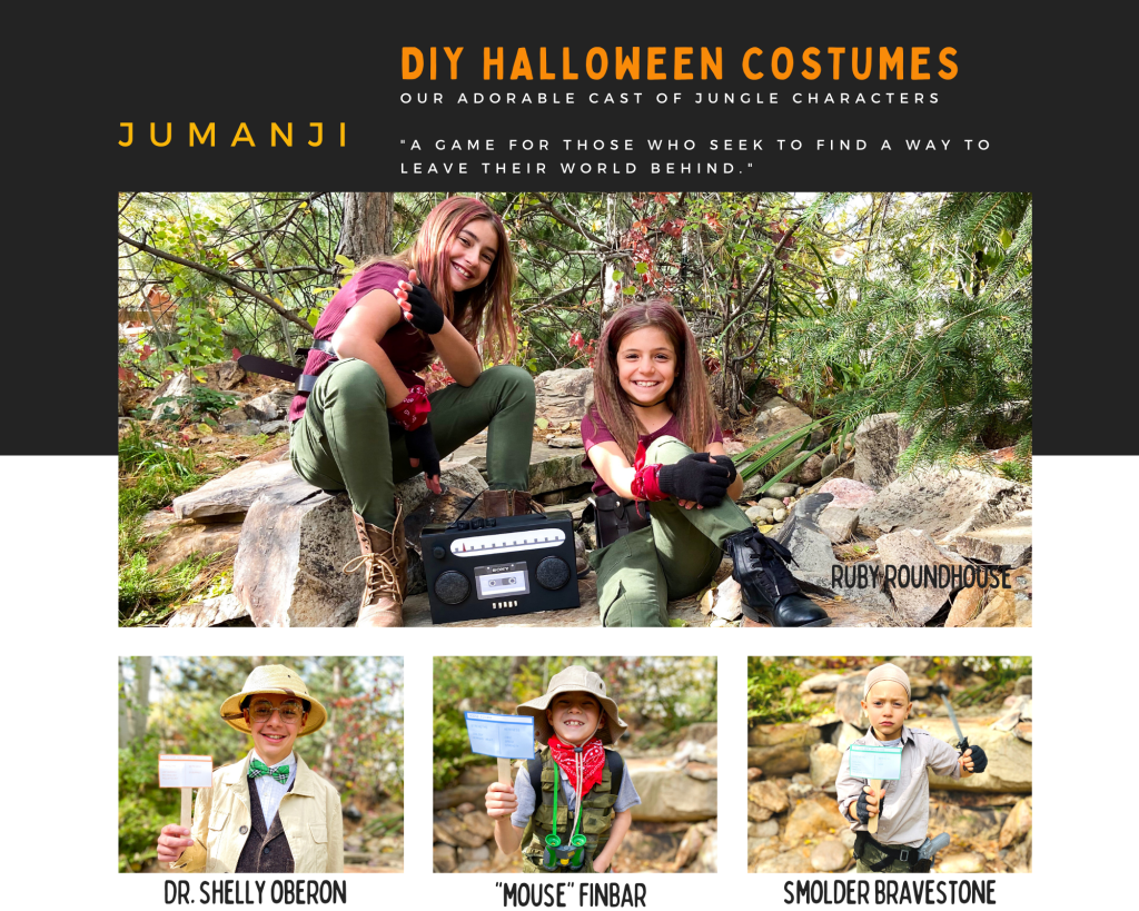 Jumanji Welcome To the Jungle DIY Halloween Costumes for kidsFINAL