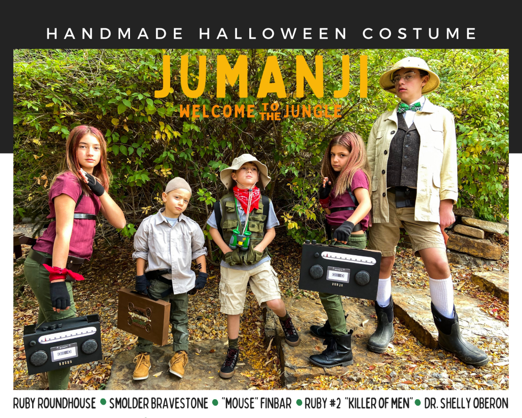 Jumanji Welcome to the Jungle DIY Halloween Costumes