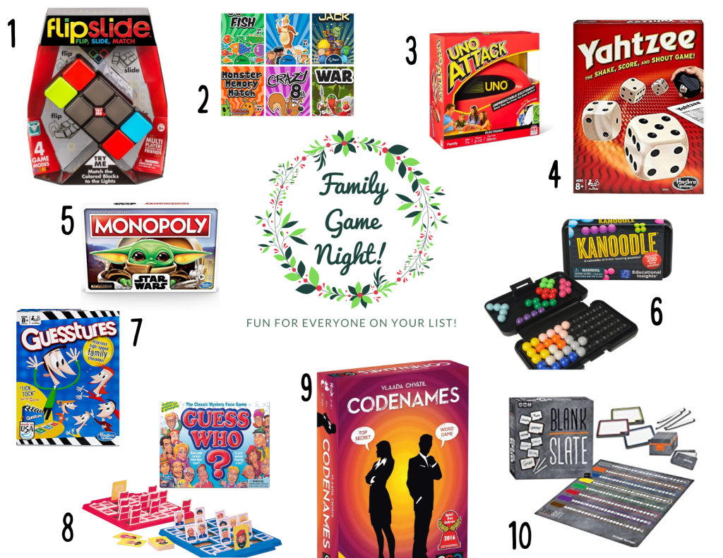 christmas gift guide, game night for the whole family