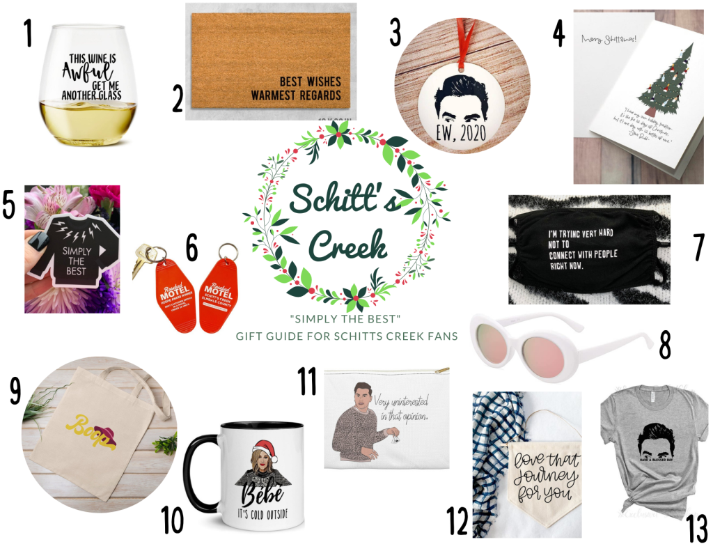 christmas gift guide - schitts creek