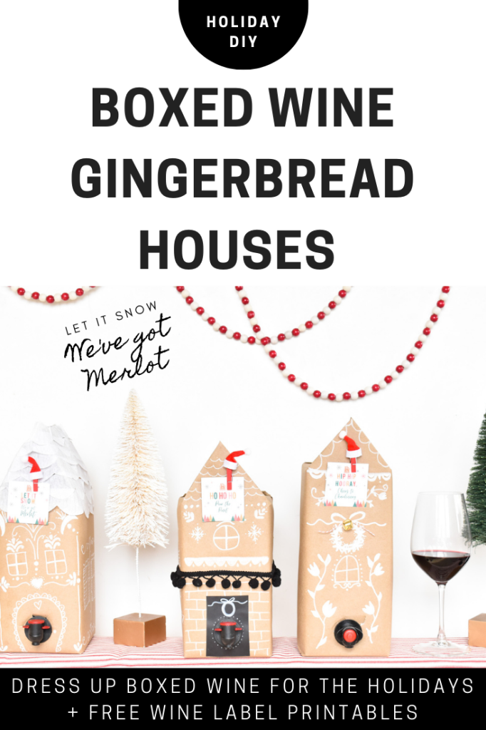 DIY Boxed Wine Gingerbread Boxes