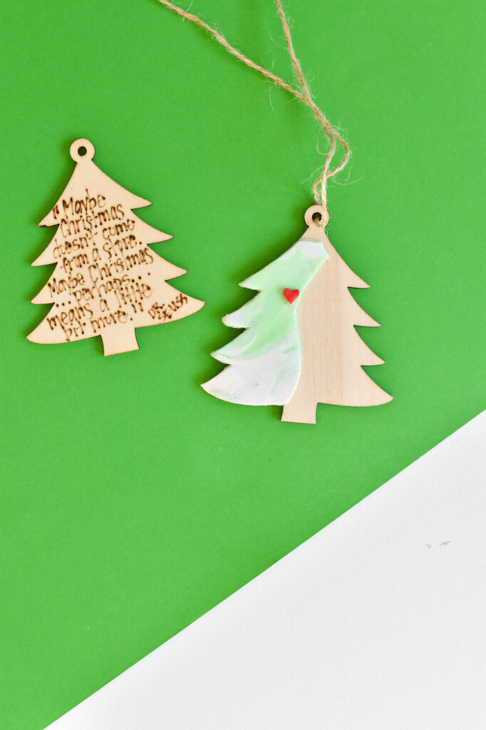 diy grinch christmas tree ornament