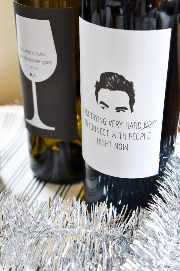 Schitts Creek wine labels-free printable-david rose
