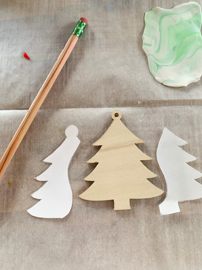 clay crafts-diy marbled clay-DIY christmas clay ornaments