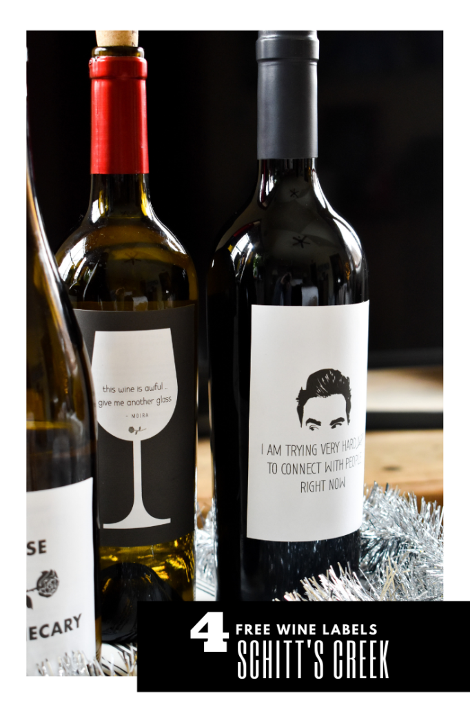 Schitts Creek wine labels-free printable
