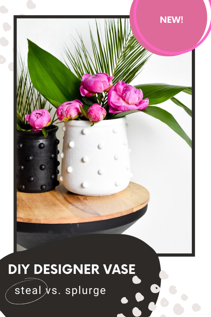 diy vase made with paint and baking soda