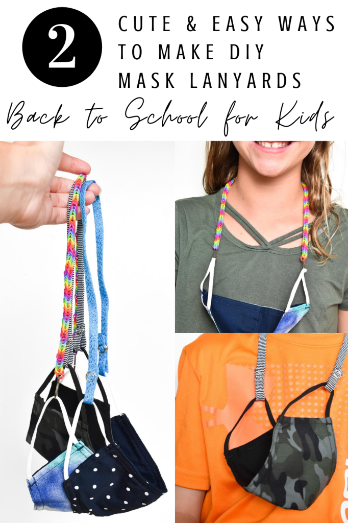 diy no-sew mask lanyard for kids