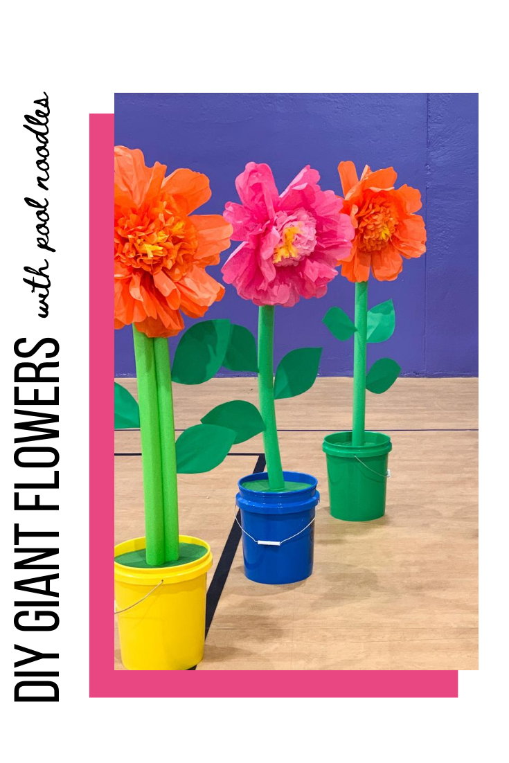 DIY giant pool noodle flower